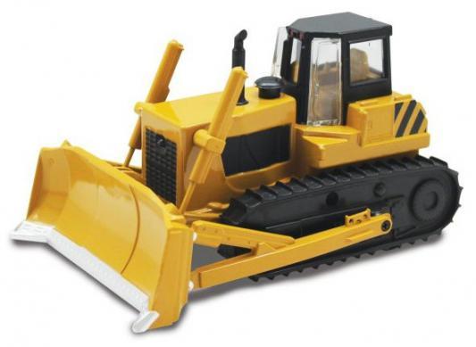 Трактор Пламенный мотор с грейдером гусеничный желтый 13 см
