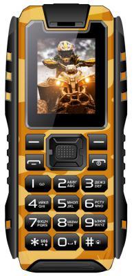 """Мобильный телефон Vertex K202 коричневый черный 1.77"""" 16 Гб"""