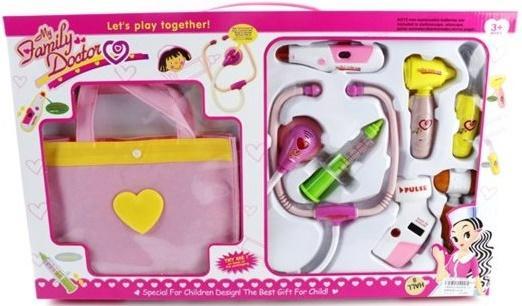 Игровой набор Shantou Gepai Доктор с сумочкой, розовый