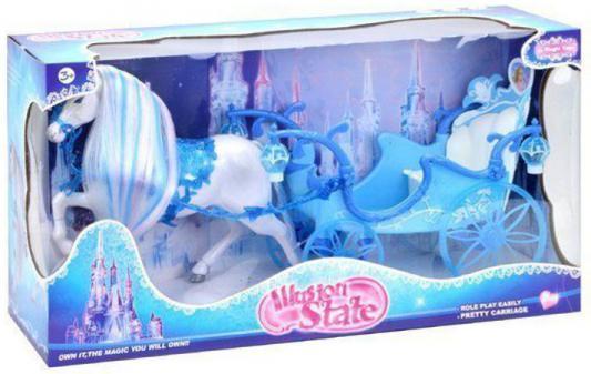 Игровой набор Shantou Gepai Зимняя карета с лошадью