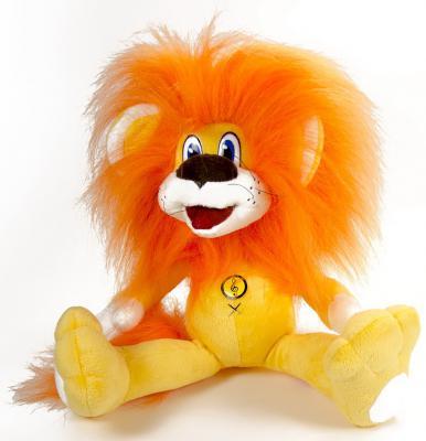 Мягкая игрушка лев Малыши Львенок Союзмультфильм текстиль оранжевый 23 см