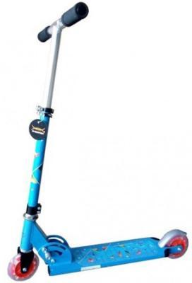 Самокат двухколёсный X-Match Cute синий 64989 x match настольная игра хоккей x match 87909