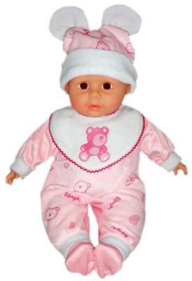 Пупс Shantou Gepai м/н 35 см, костюм роз.Мишка, озвученный, пакет