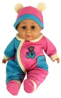 Пупс Shantou Gepai м/н 30 см, костюм син.-роз.озвученный, пакет
