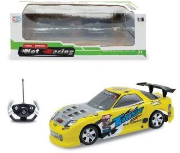 Машинка на радиоуправлении Shantou Gepai Hot Racing - Trust желтый от 3 лет пластик 635362 игрушка shantou gepai машина 635362