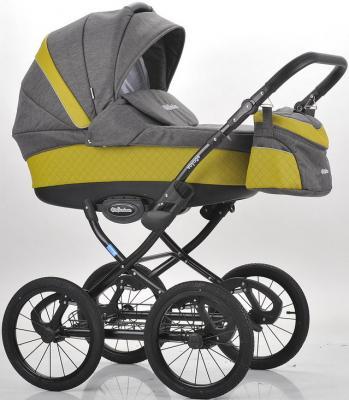 Купить Коляска для новорожденного Mr Sandman Voyage Premium (50% кожа/горчичный перфорированный - темно-серый/CH10), Коляски для новорожденных