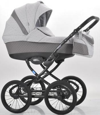 Коляска для новорожденного Mr Sandman Voyage Premium (50% кожа/серый перфорированный - светло-серый в принт/CH06)