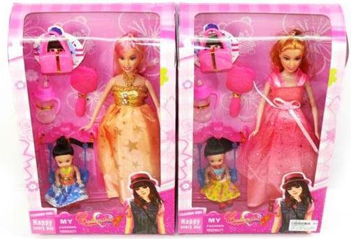 Кукла Shantou Gepai Будущая мама в роз.  Платье  с аксесс., кор. , в ассорт.