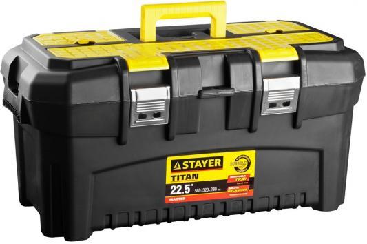 Ящик для инструмента Stayer Master 22 пластиковый 38016-22 ящик для инструмента stayer standard vega 12 пластиковый с органайзерами 38105 13 z02