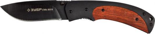 Нож Зубр Эксперт Норд складной эргономичная металлическая рукоятка с деревянными вставками 190мм/лезвие 80мм 47708 нож складной зубр 210мм лезвие 90мм командор премиум 47721