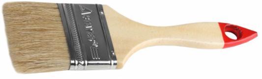 Кисть плоская Stayer UNIVERSAL-STANDARD натуральная щетина деревянная ручка 20мм 0101-020 кисть плоская lasur standard смешанная щетина 20мм stayer 01031 20