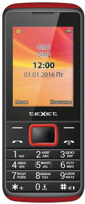 Мобильный телефон Texet TM-214 красный черный мобильный телефон texet tm 504r black red черный красный tm 504r bkr