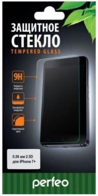 Защитное стекло прозрачная Perfeo PF-TG-APL-IPH7+ для iPhone 7 Plus 0.26 мм PF-4856 защитное стекло с силиконовыми краями perfeo для черного iphone 6 6s глянцевое pf tg3d iph6 blk