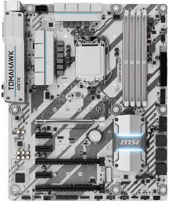 Мат. плата для ПК MSI Z270 TOMAHAWK ARCTIC Socket 1151 Z270 4xDDR4 3xPCI-E 16x 3xPCI-E 1x 6xSATAIII ATX Retail