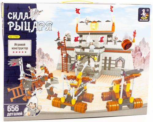 Конструктор Ausini Рыцарский замок 656 элементов 27901 аст пресс книга игра рыцарский замок