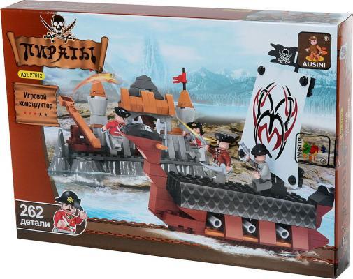 Конструктор Ausini Пираты 262 элемента 27612 конструктор пираты qixels