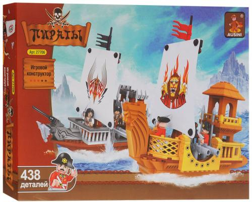 Конструктор Ausini Пираты 438 элементов 27706 конструктор краснокамская игрушка к 02 пираты 40 элементов