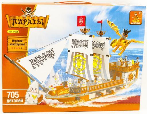 Купить Конструктор Ausini Пираты 705 элементов 27905, Пластмассовые конструкторы
