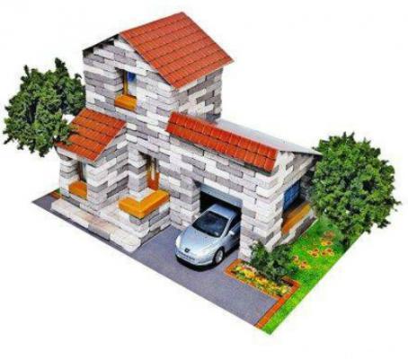 Конструктор Архитектурное моделирование Дом с гаражом Л-22 500 элементов