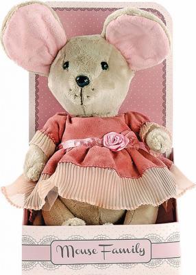 "Мягкая игрушка мышка Fluffy Family Lady mouse ""Лакомка"" текстиль 25 см"