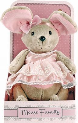 Мягкая игрушка мышка Fluffy Family Lady mouse Зефирка текстиль разноцветный 25 см