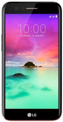 Смартфон LG K10 (2017) 16 Гб черный (LGM250.ACISBK) пылесос lg vc53202nhtr