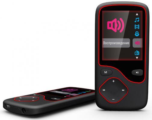 Плеер Digma Cyber 3L 4Gb черный/красный