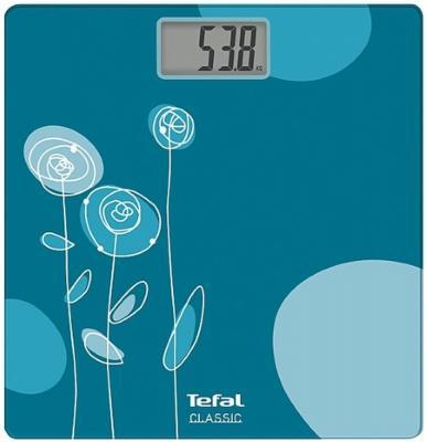 Весы напольные Tefal PP1115V0 голубой синий рисунок