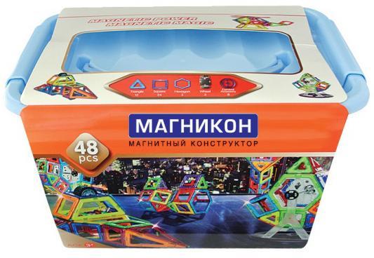 Магнитный конструктор Магникон Звездолет 48 элементов MK-48 магникон магнитный конструктор космодром 2