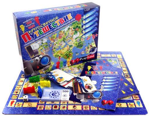 Настольная игра развивающая PLAYLAND Кругосветное путешествие L-127 play land обучающая игра кругосветное путешествие