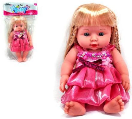 Кукла Shantou Gepai 30 см в роз.платье, звук, пакет, в ассорт.61520