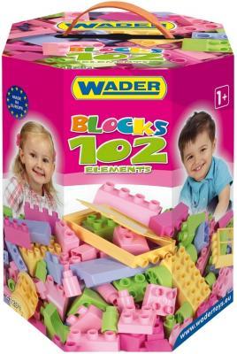 Купить Конструктор Wader Великан 102 элемента для девочек 41291, Мягкие конструкторы для детей