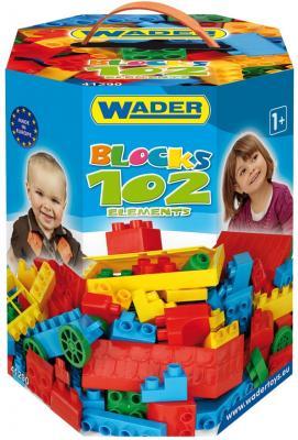 Купить Конструктор Wader Великан 102 элемента для мальчиков 41290, Мягкие конструкторы для детей