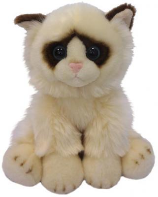 Мягкая игрушка кот MAXITOYS Котик сидячий искусственный мех бежевый 30 см