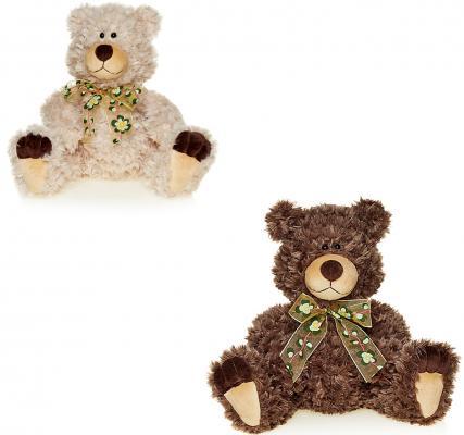 Мягкая игрушка медведь MAXITOYS Мишка Лапа искусственный мех коричневый бежевый 27 см в ассортименте