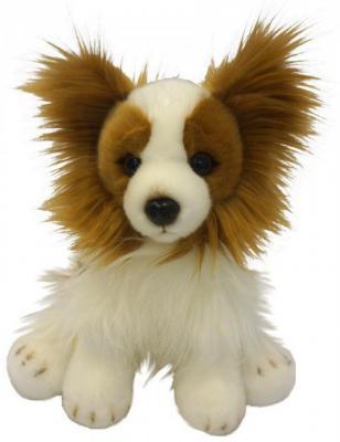 Мягкая игрушка MAXITOYS Собачка искусственный мех белый 30 см сидячая