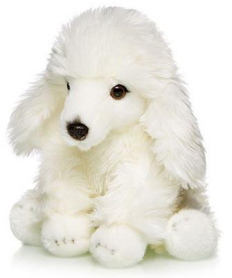 Мягкая игрушка собака MAXITOYS Пудель искусственный мех белый 30 см