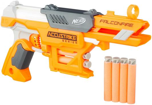 Бластер Hasbro NERF N-Strike Elite AccuStrike - FalconFire оранжевый белый серый оружие игрушечное hasbro hasbro бластер nerf n strike mega rotofury