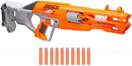 Бластер Hasbro NERF N-Strike Elite AccuStrike - AlphaHawk оранжевый серый оружие игрушечное hasbro hasbro бластер nerf n strike mega rotofury
