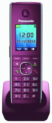 Дополнительная трубка DECT Panasonic KX-TGA855RUR красный к телефонам серии KX-TG85хx б/у телефон dect gigaset l410 устройство громкой связи