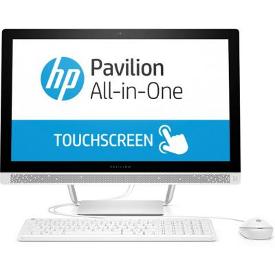 Моноблок 24 HP Pavilion 24-b257ur 1920 x 1080 Multi Touch Intel Core i5-7400T 8Gb 1Tb + 128 SSD nVidia GeForce GT 930МХ 2048 Мб Windows 10 Home белый 1AW97EA