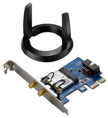 Беспроводной PCI-E адаптер ASUS PCE-AC55BT 802.11ac 867Mbps 2.4 или 5ГГц