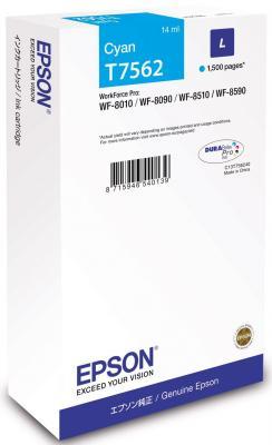 Картридж Epson C13T756240 для Epson WF-8090/8590 голубой картридж epson c13t754140 для epson wf 8090 epson wf 8590 черный