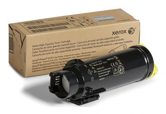 Картридж Xerox 106R03483 для Phaser 6510/WC 6515 желтый 1000стр картридж xerox 106r03694 для phaser 6510 wc 6515 пурпурный 4300стр