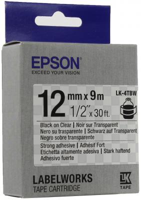 Лента Epson LK-4TBW C53S654015 лента epson lk 4sbm c53s654019