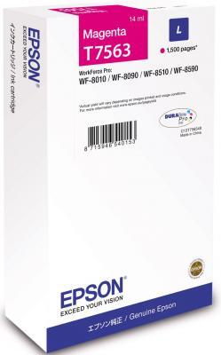 Картридж Epson C13T756340 для Epson WF-8090/8590 пурпурный картридж epson c13t754140 для epson wf 8090 epson wf 8590 черный