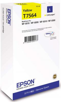 Картридж Epson C13T756440 для Epson WorkForce Pro WF-8090DW WorkForce Pro WF-8590DWF желтый картридж epson t7033 l magenta для workforce pro 4000 4500 c13t70334010
