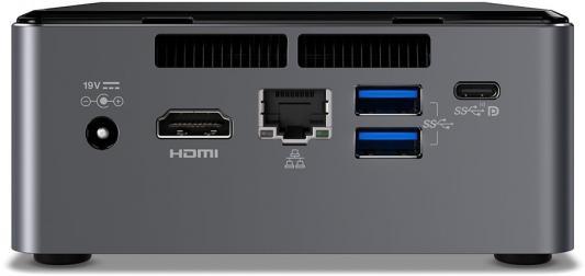 Неттоп Intel BOXNUC7I3BNH Intel Core i3-7100U Intel HD Graphics 620 Без ОС черный BOXNUC7I3BNH