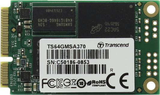 Твердотельный накопитель SSD mSATA 32Gb Transcend MSA370 Read 560Mb/s Write 310mb/s SATAIII TS32GMSA370 твердотельный накопитель ssd m 2 64gb transcend mts600 read 560mb s write 310mb s sataiii ts64gmts600