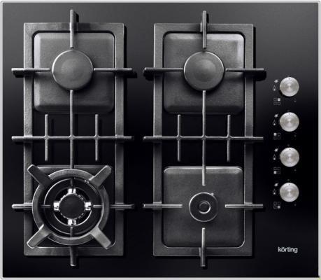 Варочная панель газовая Korting HGG 665 CTN черный